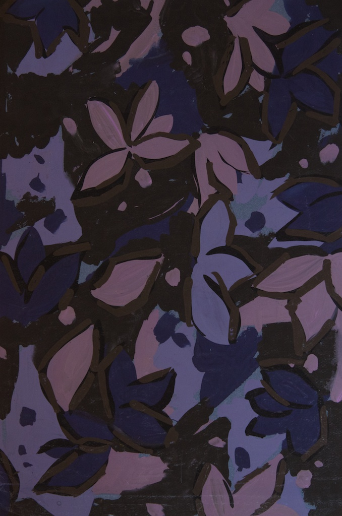 Abstract Purple Floral #1