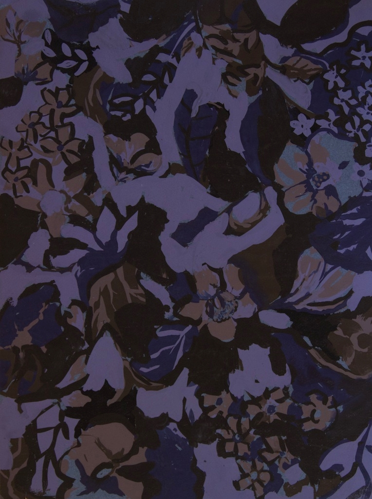 Abstract Purple Floral #2