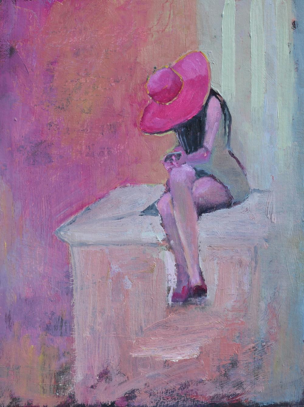 pink hat lady.JPG