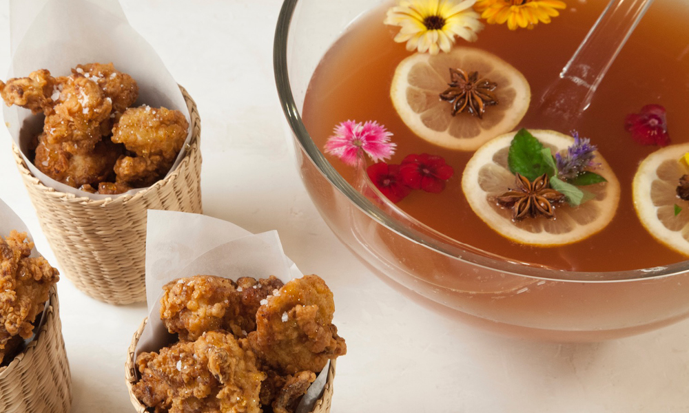 Jan's Fried Chicken, Spiked Apple Cider Punch