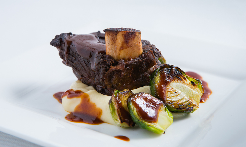 Braised Five-Spice Short Rib, Parsnip, Brussels Sprouts