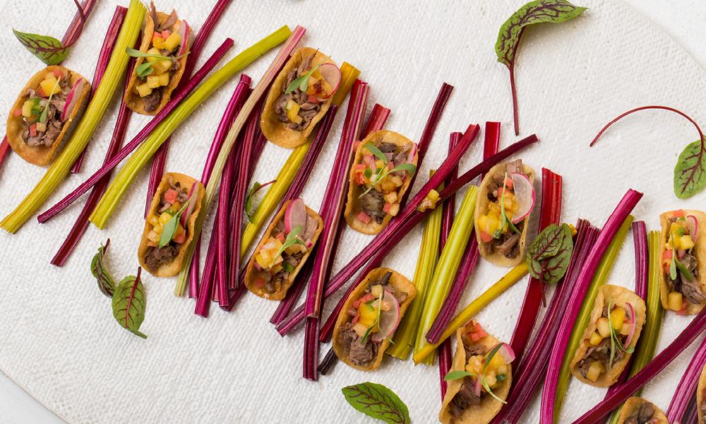 Al Pastor Taco Bites, Pineapple Salsa