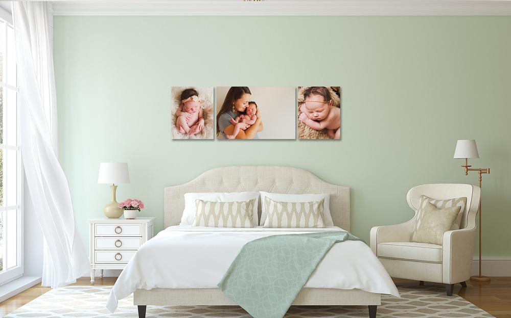 photo gallery wall utah newborn photography