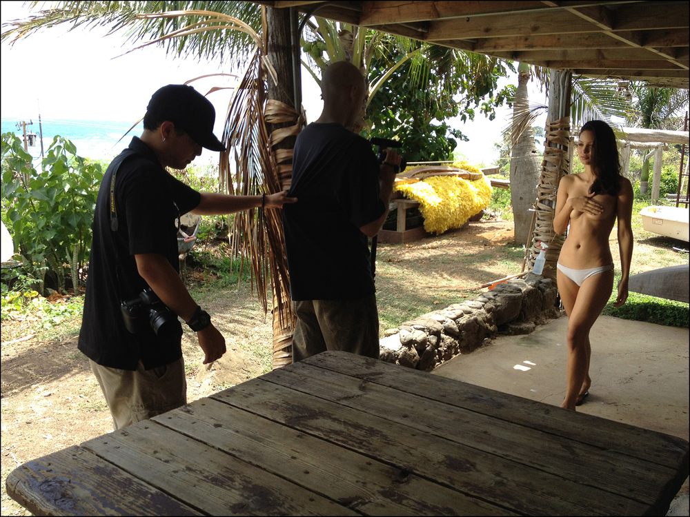 Ku'ulei Arruda at the Correa Ranch, Waimanalo
