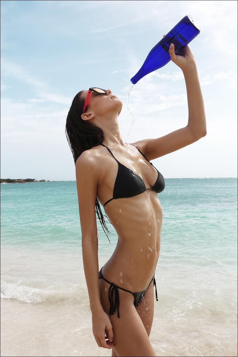 Little Black Bikini Tr... Bar Refaeli