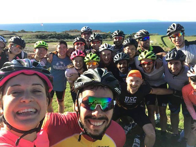 Big group riding the Palos Verdes Switchbacks today!  #cyclinglife #biking #cycling #palosverdes #switchbacks #mlkday