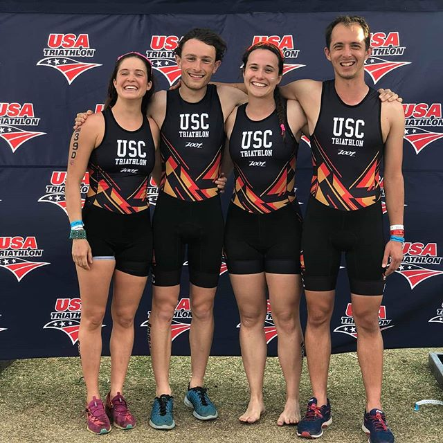 The best of the best race in the Mixed Team Relay. This year our nationals squad for the MTR consisted of @itssarahsout @adamroeder @_quebecky and @calumrickard.  With a field of 100+ other teams, @sctriathlon is super proud of our MTR squad for placing in the top 20!! To put that in perspective, we were faster than more than 80% of the other collegiate teams! Goes to show that hard work, perseverance, and having amazing coaches(@radhallman @coreyn0310) really helps. :D  Congratulations to all the racers at nationals for giving it their all. Hope to see you all next year!  #triathlon #triathlontraining #triathlete #swimbikerun #swimming #running #biking #olympictriathlon #nationals #nationalchampionship #usatnationals #runningmotivation #mixedteamrelays #mtr #usatnationals2019