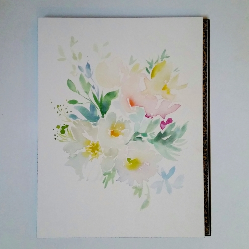Watercolour Painting Floral Bouquet