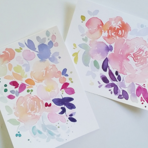 Watercolour Floral Commissioned Artwork