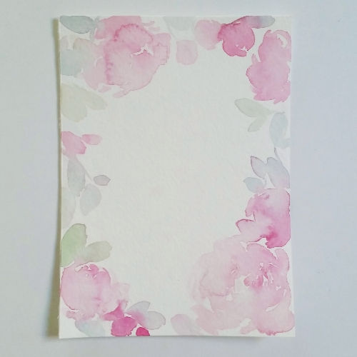 Pink Peony Boarder - Table Number Watercolor Wedding Decor