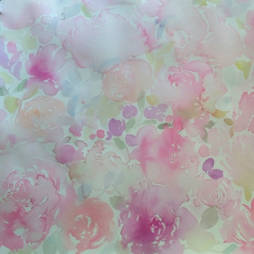 watercolour floral background