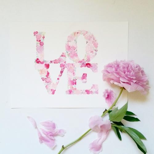 Watercolour Floral LOVE