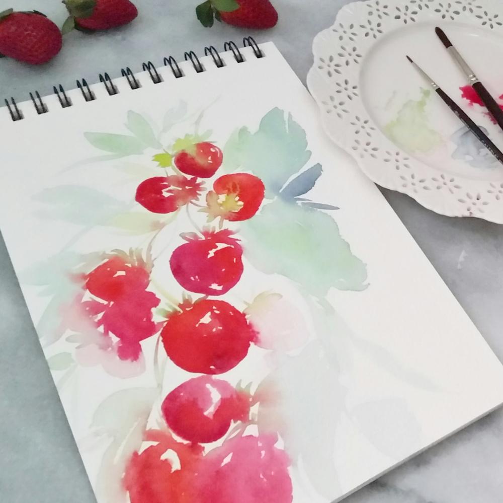 Watercolour Strawberries