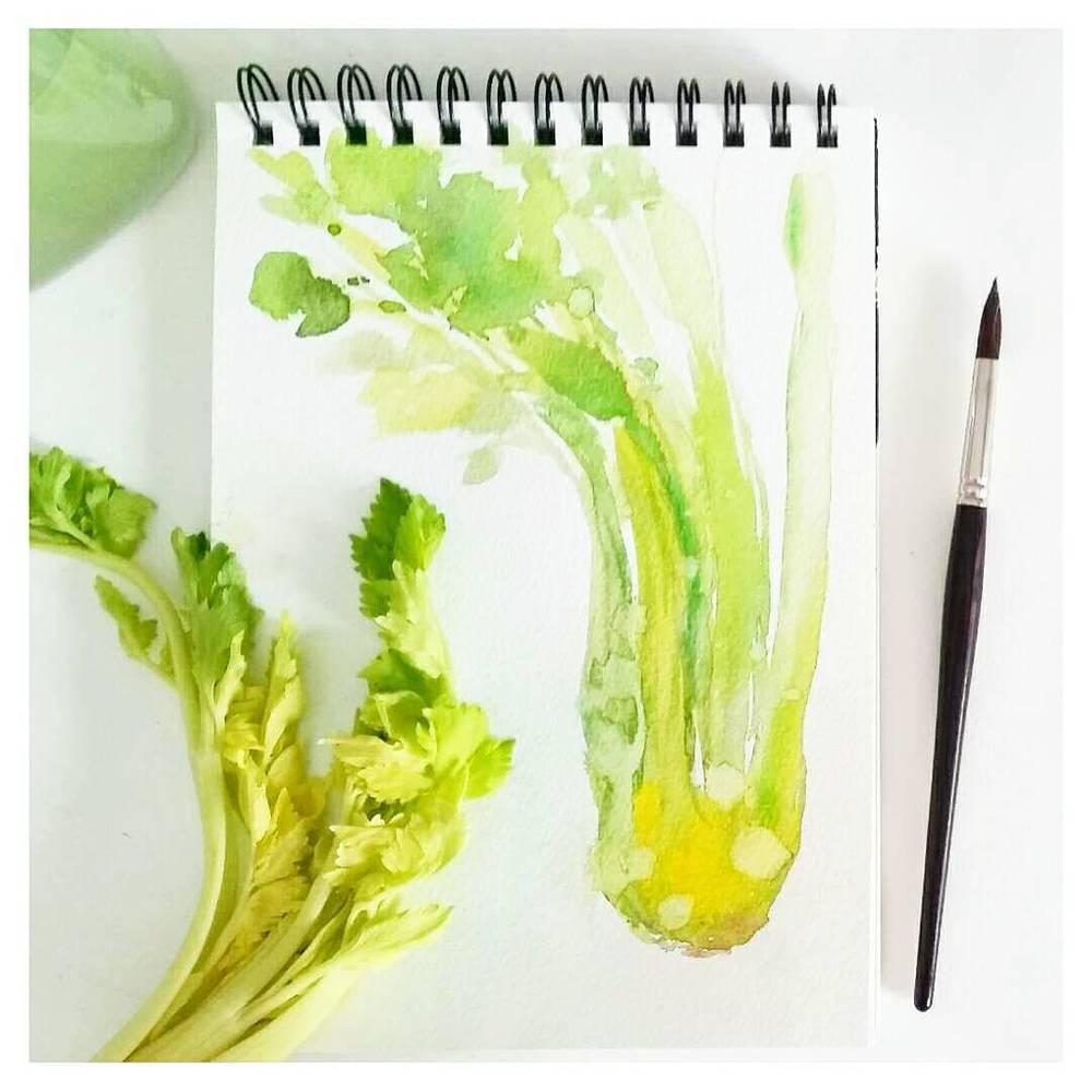 Watercolour Celery