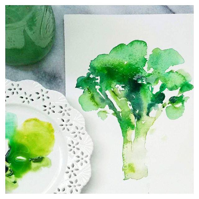 Watercolour Broccoli