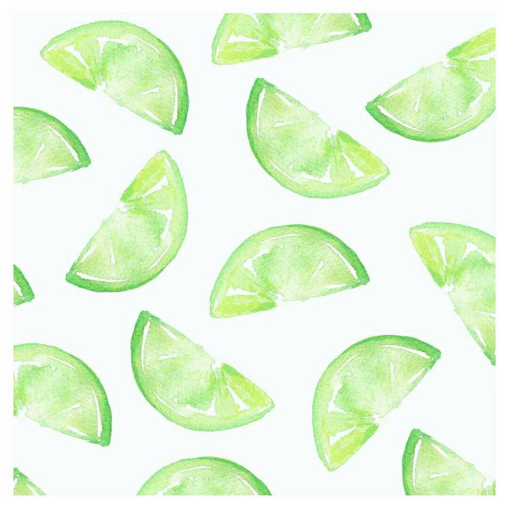 watercolour lime wedges pattern design