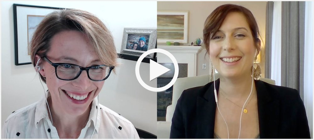 Me interviewing Jen Wittman last Spring