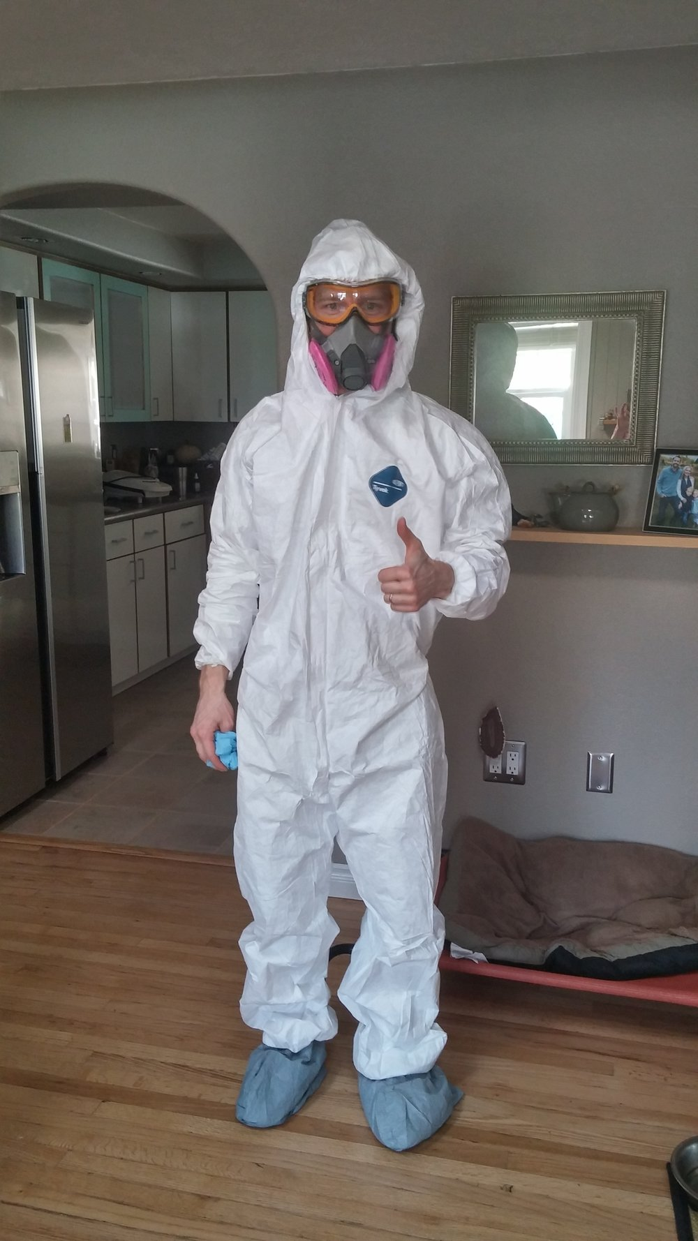 These hazmat suits don't protect you 100%, but at least they look cool.