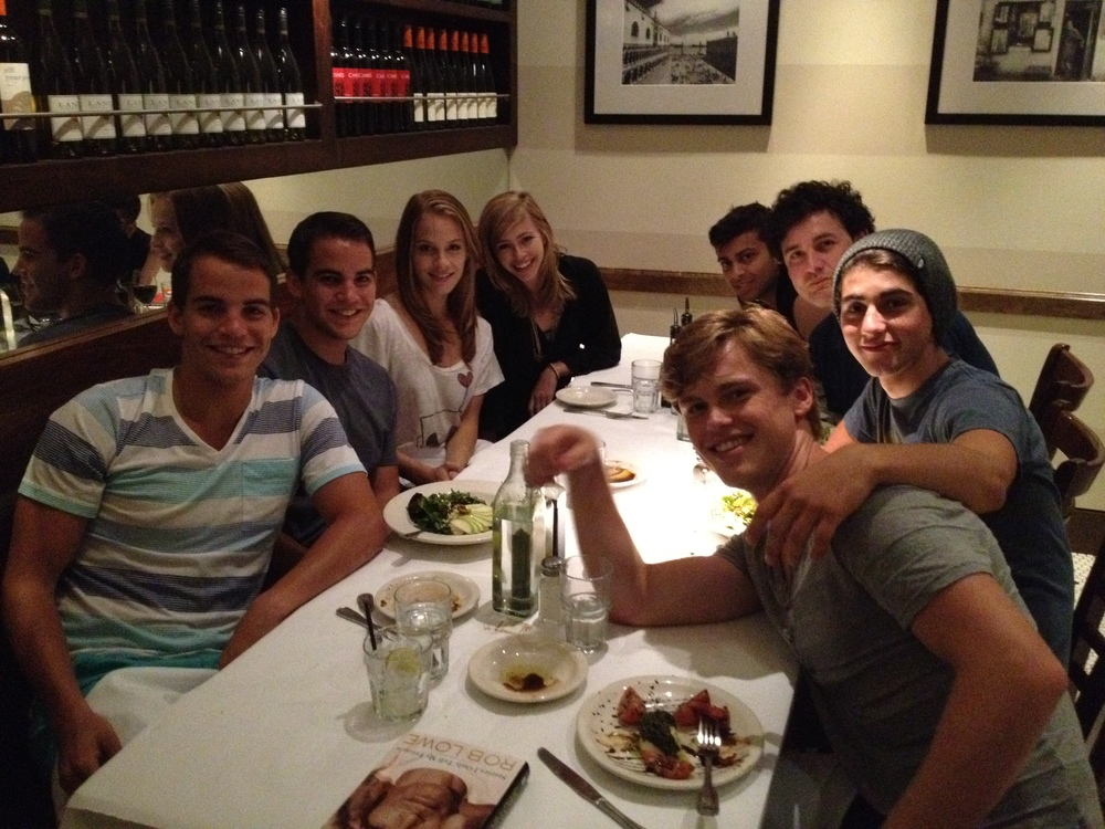 Cast dinner for The A List