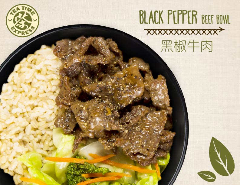Black Pepper Beef Bowl