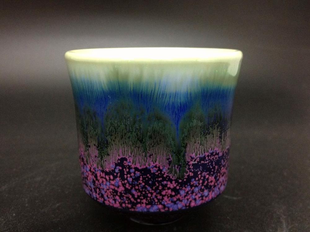 黃玉英 薰衣草花田釉 茶杯