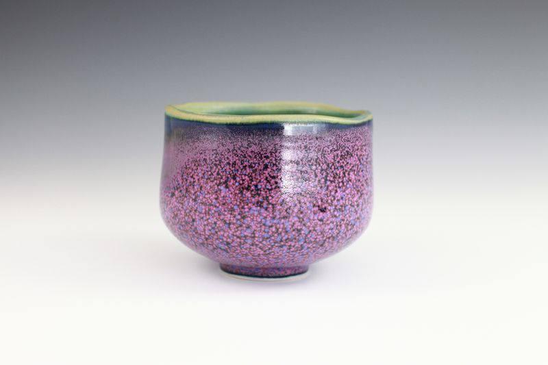 黃玉英 薰衣草花田釉 茶碗