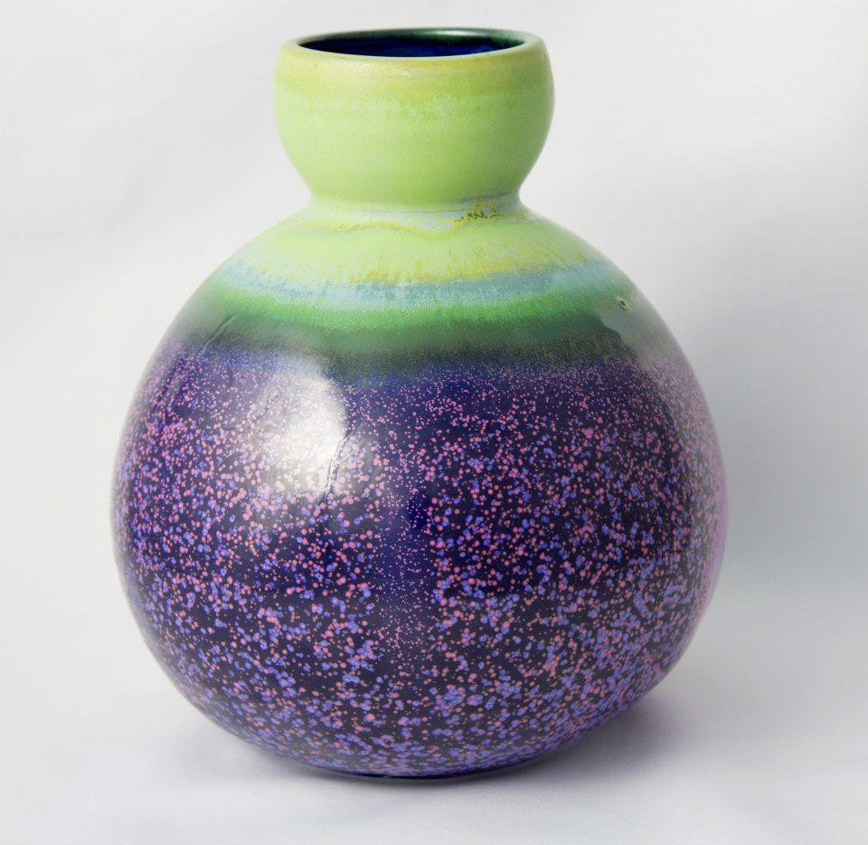 黃玉英 薰衣草花田釉 花瓶