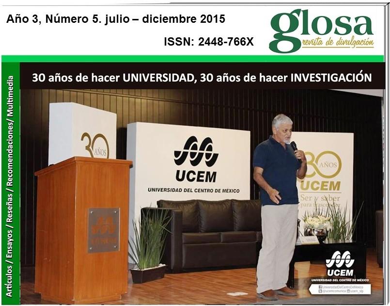 En Portada    LA UNIVERSIDAD DEL CENTRO DE MÉXICO CUMPLE 30 AÑOS DE VIDA Y DE FOMENTAR PROGRAMAS DE INVESTIGACIÓN. LA COORDINACIÓN DE INVESTIGACIÓN HA TRABAJADO DESDE 2010 EN CAPITALIZAR ESA EXPERIENCIA Y CONSOLIDAR LA CONSTRUCCIÓN DE CULTURA DE INVESTIGACIÓN ENTRE NUESTRA COMUNIDAD ACADÉMICA CON PROGRAMAS COMO EL COLOQUIO DE INVESTIGACIÓN, EL VERANO DE LA CIENCIA, EL SEMINARIO PERMANENTE DE INVESTIGACIÓN Y LA REVISTA ALTER ENFOQUES CRÍTICOS, ENTRE OTROS.