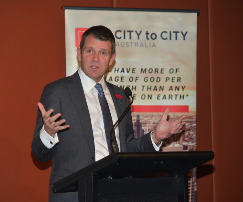 Premier Mike Baird talks about the importance of living an integrated life.