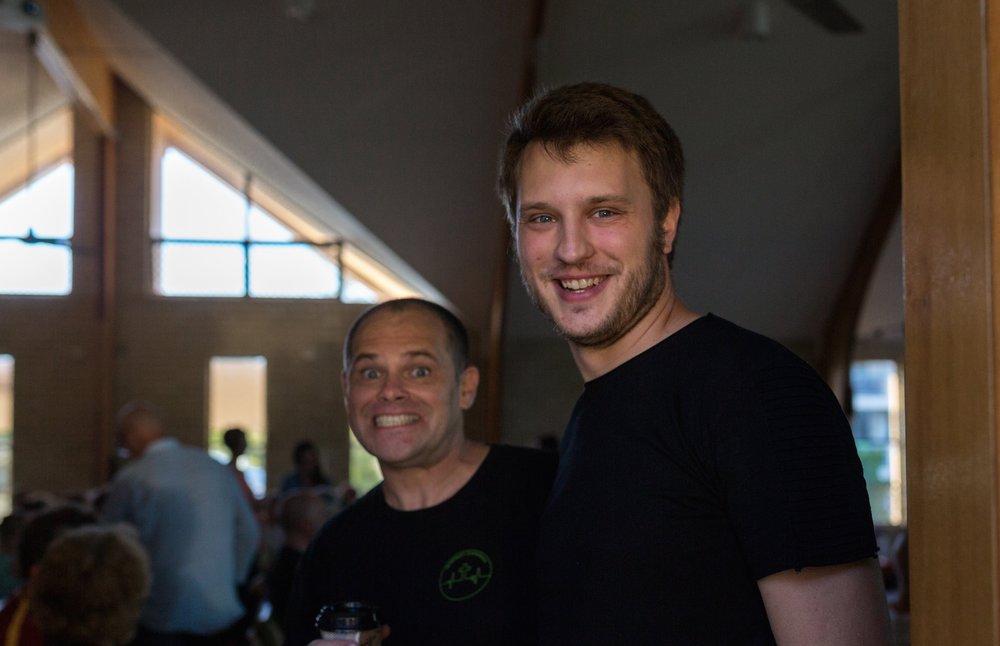 Ralph Mayhew (left), Ori Zacher (right)
