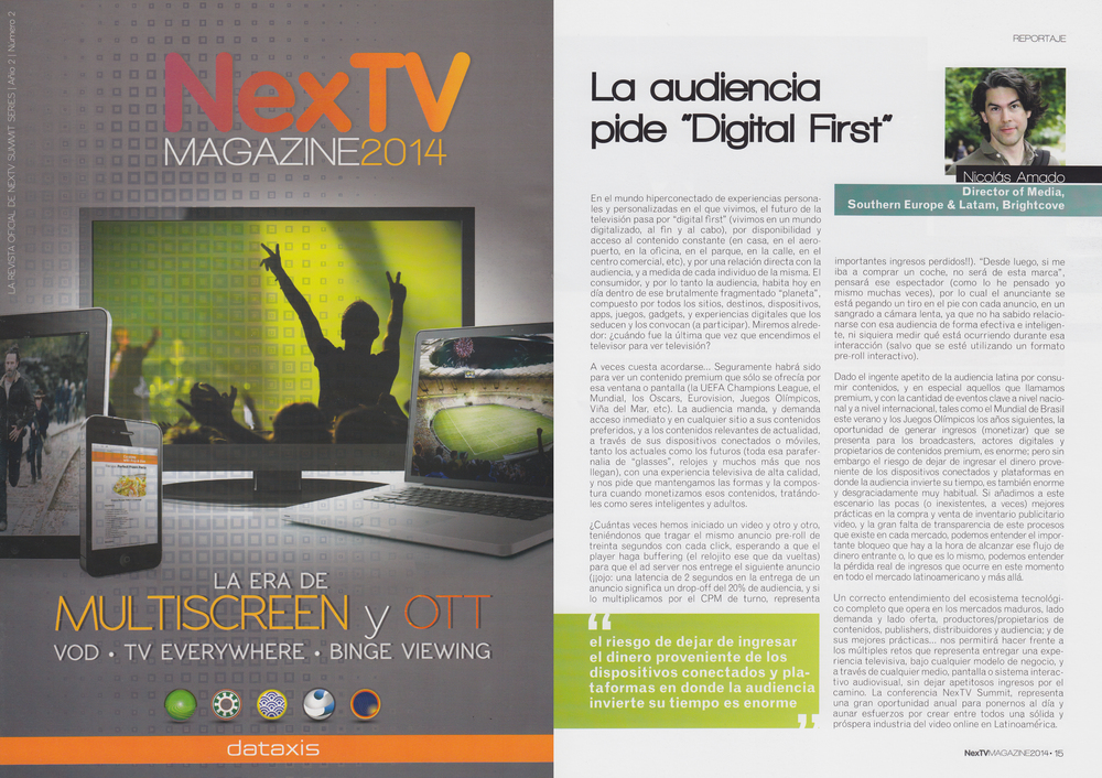 2014 Edition of the Official NexTV Summit Series Magazine, published in May