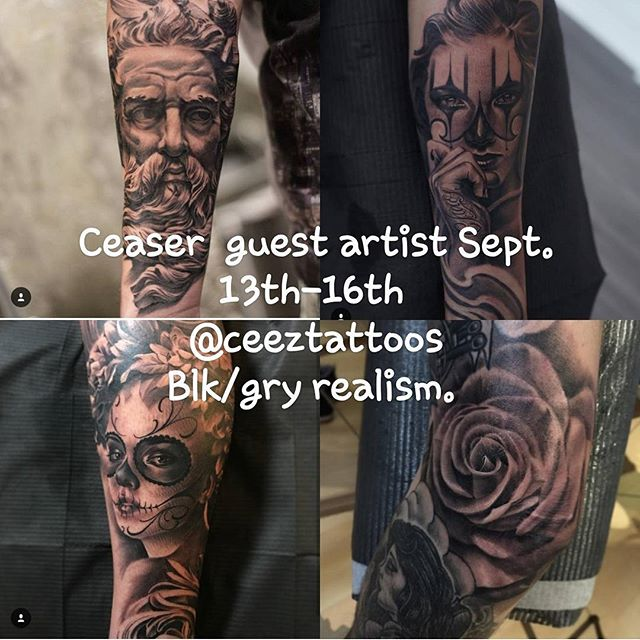 Only a couple spots left, contact the studio for booking information . #guestspot #travelingartist #blackandgreytattoo #realism #sos