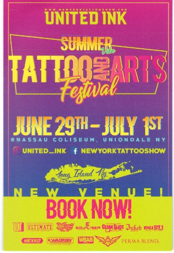 Some artists will be traveling back to New York June 29th-July 1st tattooing at another rad united ink show in Long Island @ the Summer Vibes Tattoo and Arts Festival. Be sure to check out the website for more info for that weekend.  www.newyorktattooshow.com