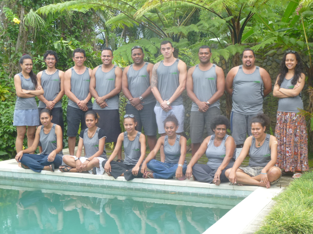 From Left To Right Top : Titilia Bese, Colin Bentley, Ross Fonmoa, Iliesa Batau, Josaia Naitini, Tualagi Nokise, Ropate Nasau, Joshua Savu, Rachel Ng   From Left To Right Bottom:  Manaini Bulu, Miliakere Toganivalu, Nanise Tikoicina, Marasilina Volavola, Joana Valamalua, Roselyn Cikamatana