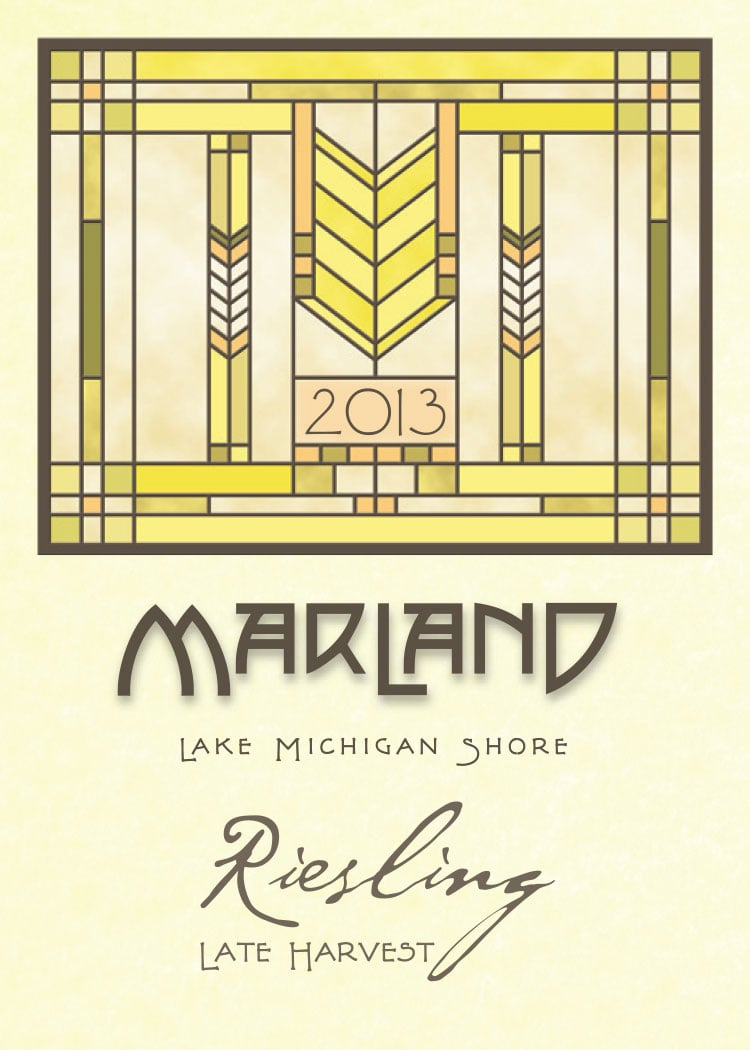 "MARLAND LATE HARVEST RIESLING - Styled after the german tradition of a ""Spatlese"" Riesling, the wine has a lightly perceptible sweetness which is balanced by the zesty liveliness of the grape's inherent acidity that is both refreshing and invigorating; fresh peaches, mandarins, apricots and slatey minerals."
