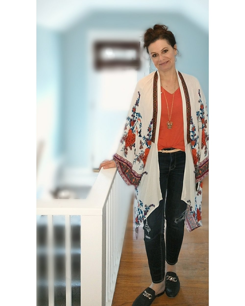 Colorful !   - Try pairing a bright top with jeans, add another colorful layer to the top to pull the look together.