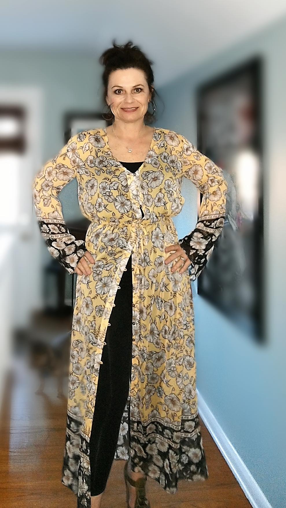 Long Dress with dark legging