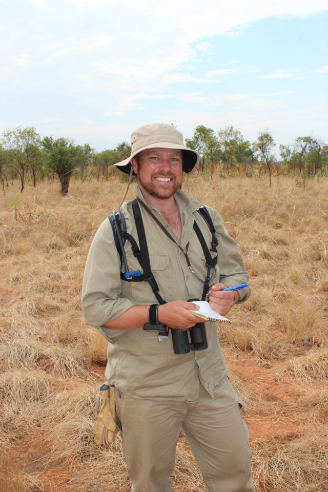 Mark conducting bird surveys in the Kimberley WA