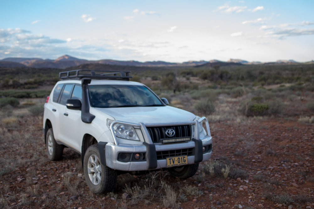 Transport is in a late-model remote spec Toyota Prado 4wd (4 persons max).