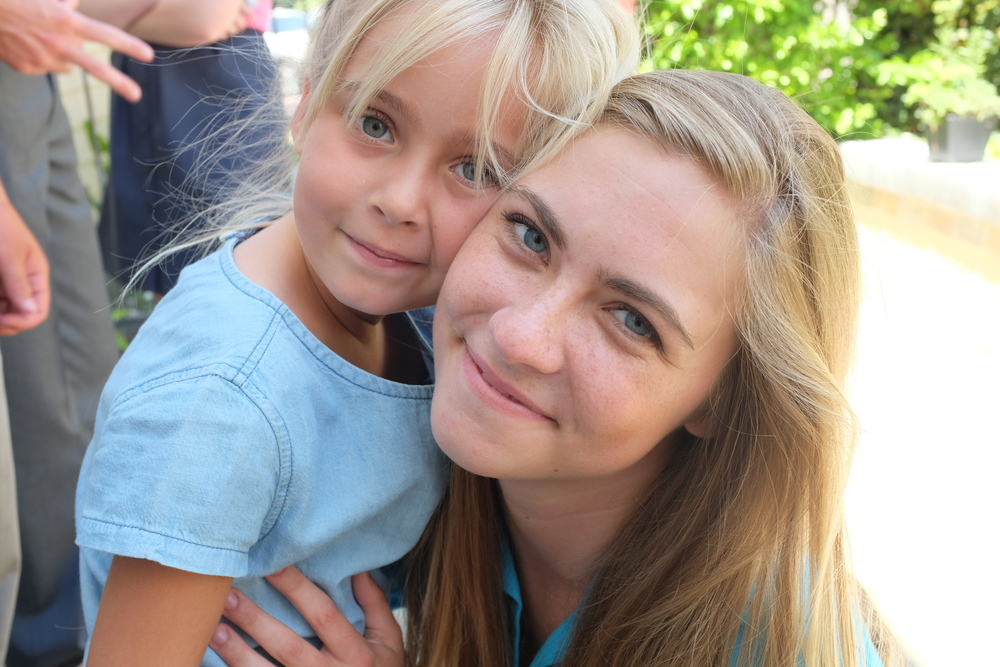 Camille and her sweet little niece Naomi.