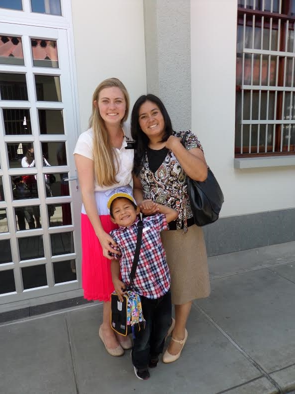 Hermana Carolina, their former pensionista who just returned from Lima.