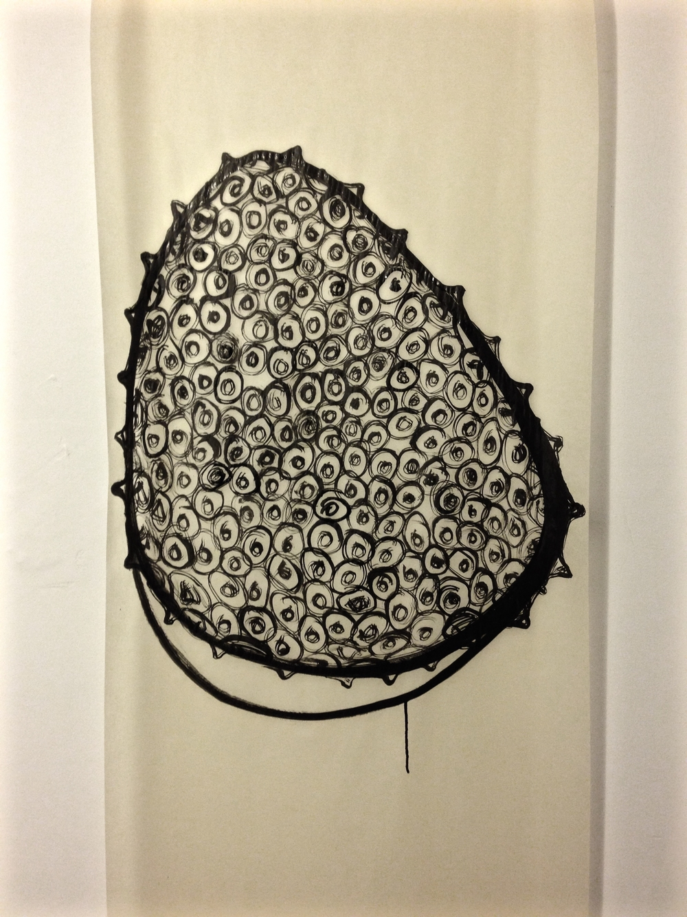 Katherine Rutecki, Dip, 2016  Sumi ink on paper