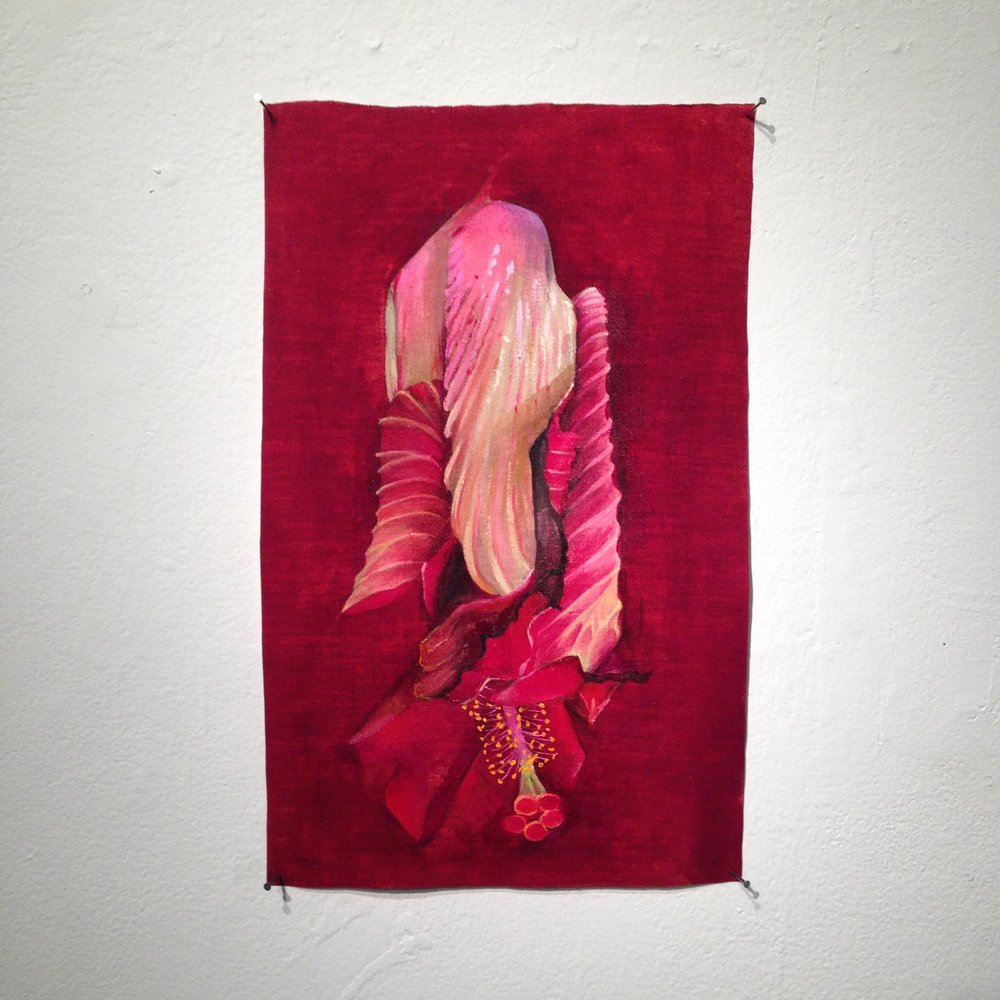 Katherine Rutecki,  Spent Hibiscus no. 3,  oil on linen, 30x40cm, 2015