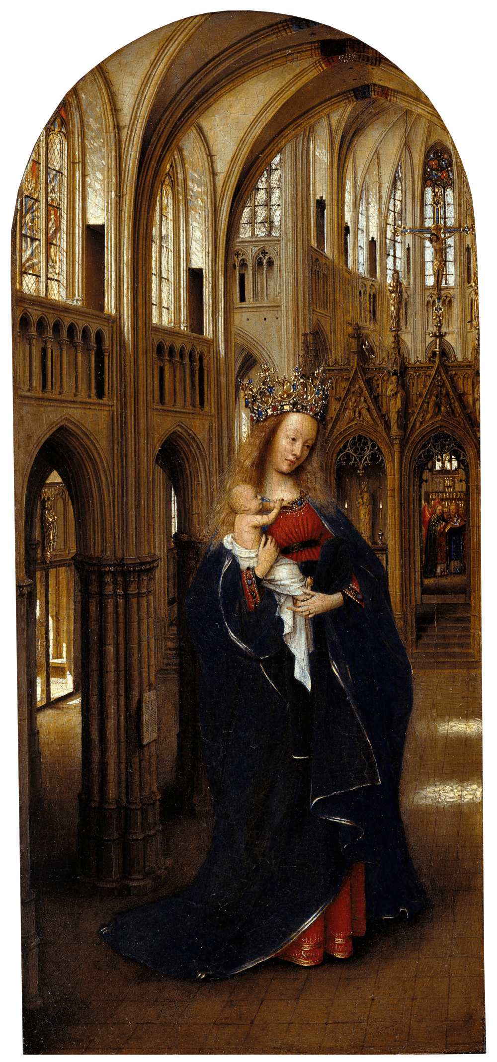 Figure. 2) Jan van Eyck, Madonna in the Church, 1438-40 oil on panel