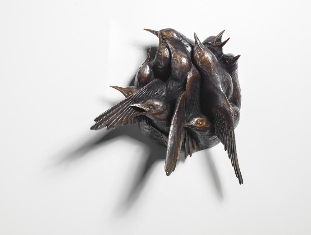 Katherine Rutecki,  Passage,  bronze, 30x10x30cm, 2013