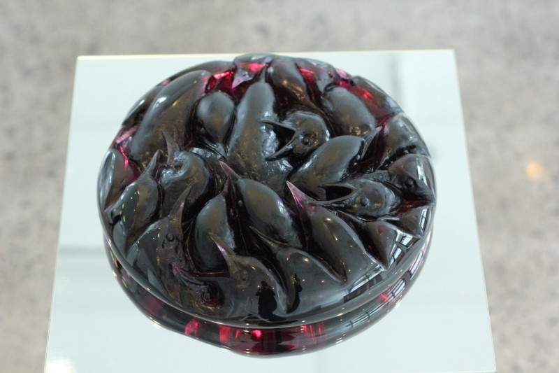 Katherine Rutecki,  Blood, lost wax cast crystal, polished, 30x30x8cm, 2014
