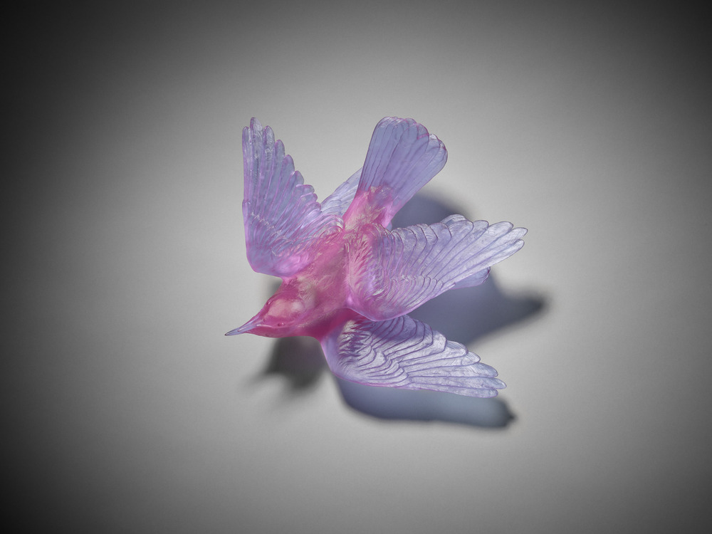 Katherine Rutecki,  Lilac,  lost wax cast crystal, 30x30x17cm, 2011
