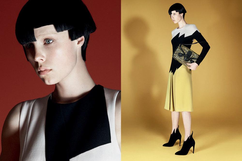 Bottega Veneta Model: Edie Campbell Photographer:David Sims Source: Bottega Veneta