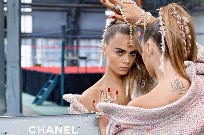 Chanel Model: Cara Delevingne Photographer: Karl Lagerfeld Source: Chanel
