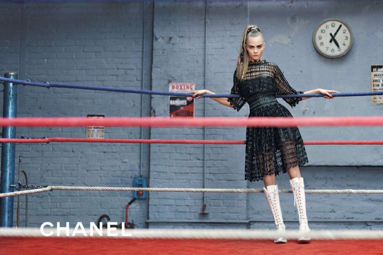 Chanel odel:Cara Delevingne Photographer:Karl Lagerfeld Source: Chanel